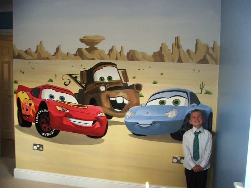 disny world disney cars mural